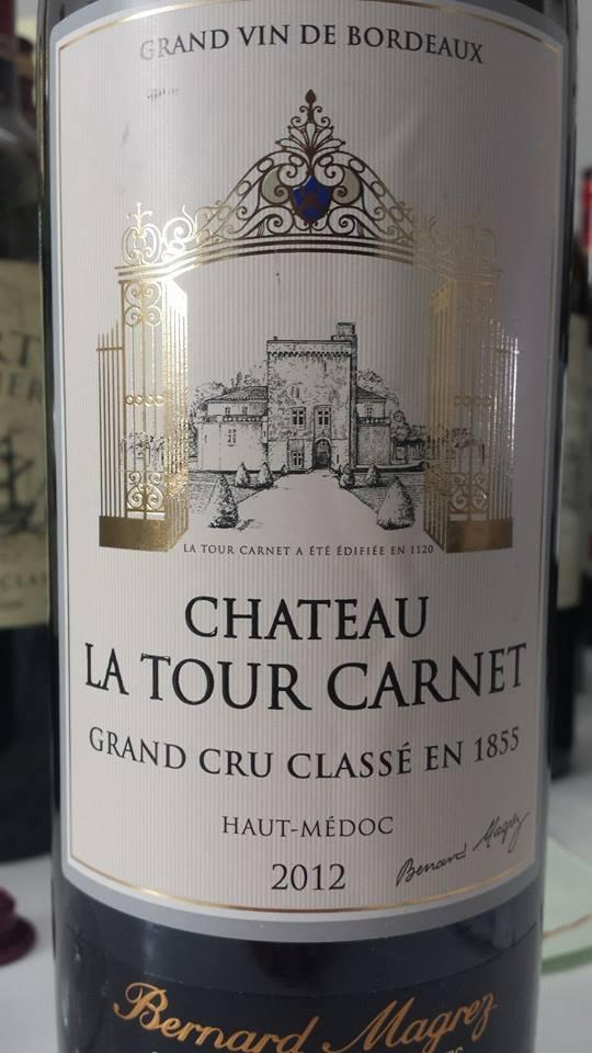 Château La Tour Carnet 2012 – Haut-Médoc – 4th Grand Cru Classé