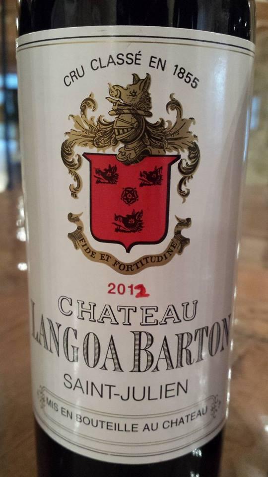 Château Langoa Barton 2012 – Saint-Julien – 3ème Grand Cru Classé