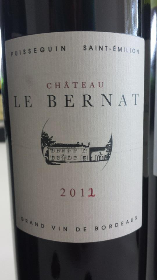 Château Le Bernat 2012 – Puisseguin Saint-Emilion