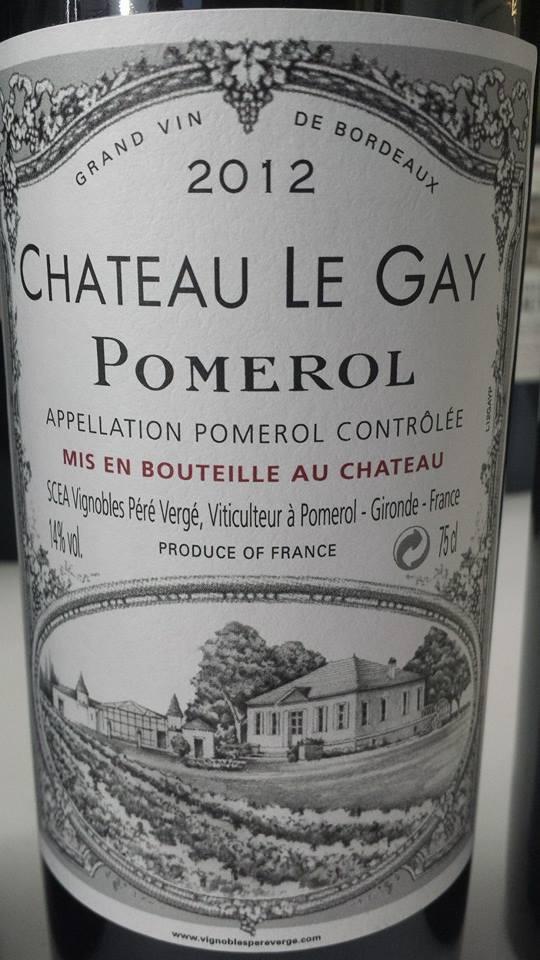Château Le Gay 2012 – Pomerol