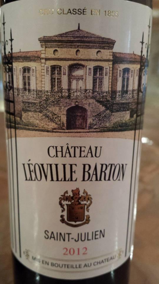 Château Leoville Barton 2012 – Saint-Julien – 2ème Grand Cru Classé