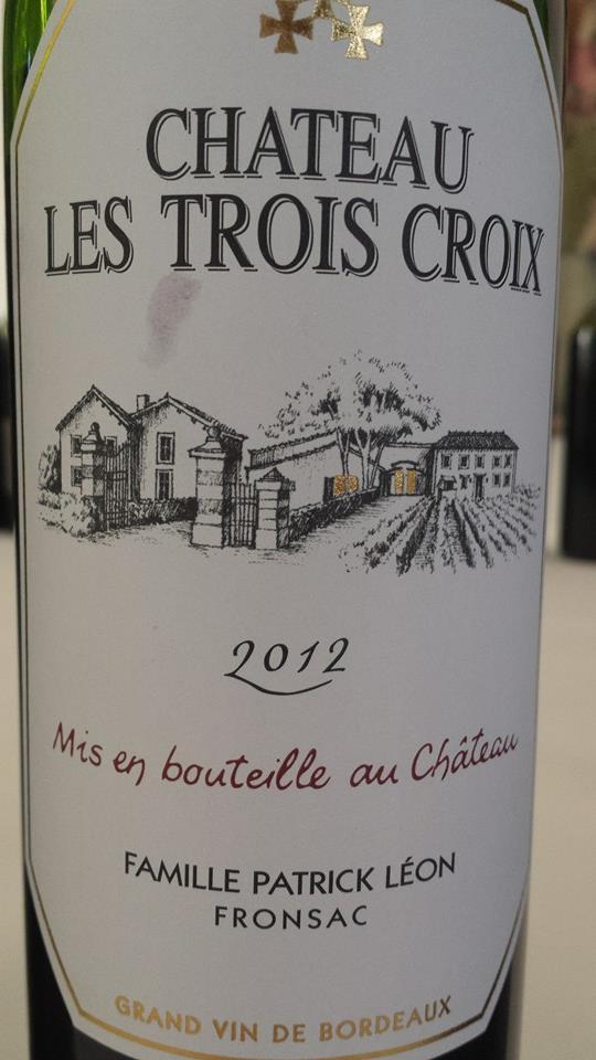 Château Les Trois Croix 2012 – Fronsac