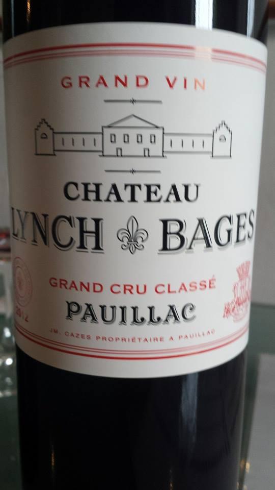 Château Lynch Bages 2012 – Pauillac – 5ème Grand Cru Classé