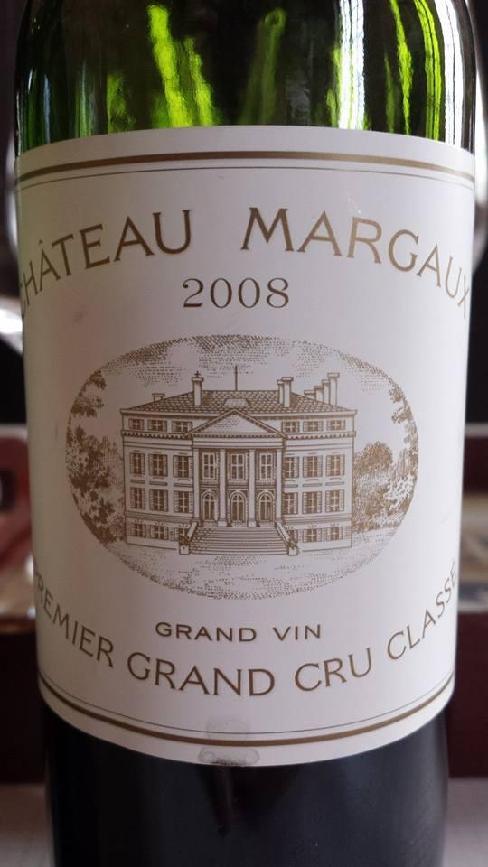 Château Margaux 2008 – 1ère Grand Cru Classe à Margaux