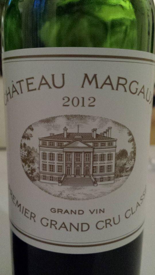 Château Margaux 2012 – 1ère Grand Cru Classe à Margaux
