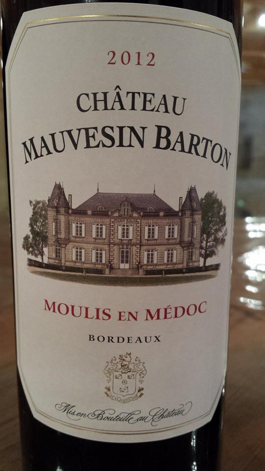 Château Mauvesin Barton 2012 – Moulis en Médoc