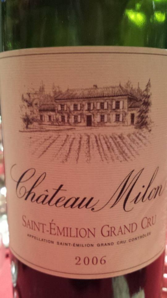 Château Milon 2006 – Saint-Emilion Grand Cru