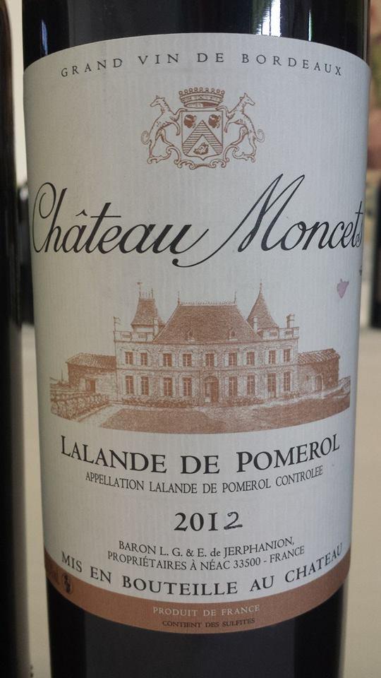 Château Moncets 2012 – Lalande-de-Pomerol