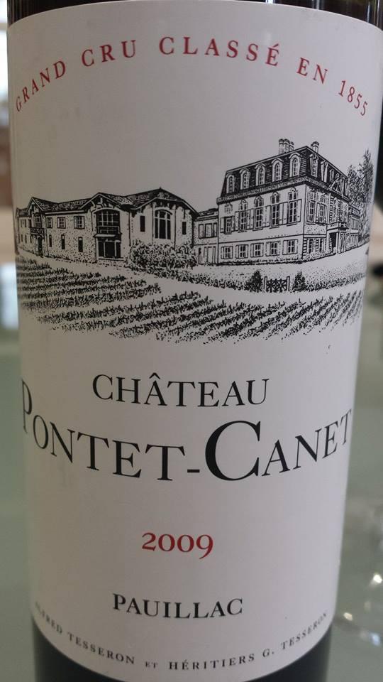 Château Pontet-Canet 2009 – Pauillac – 5ème Grand Cru Classé