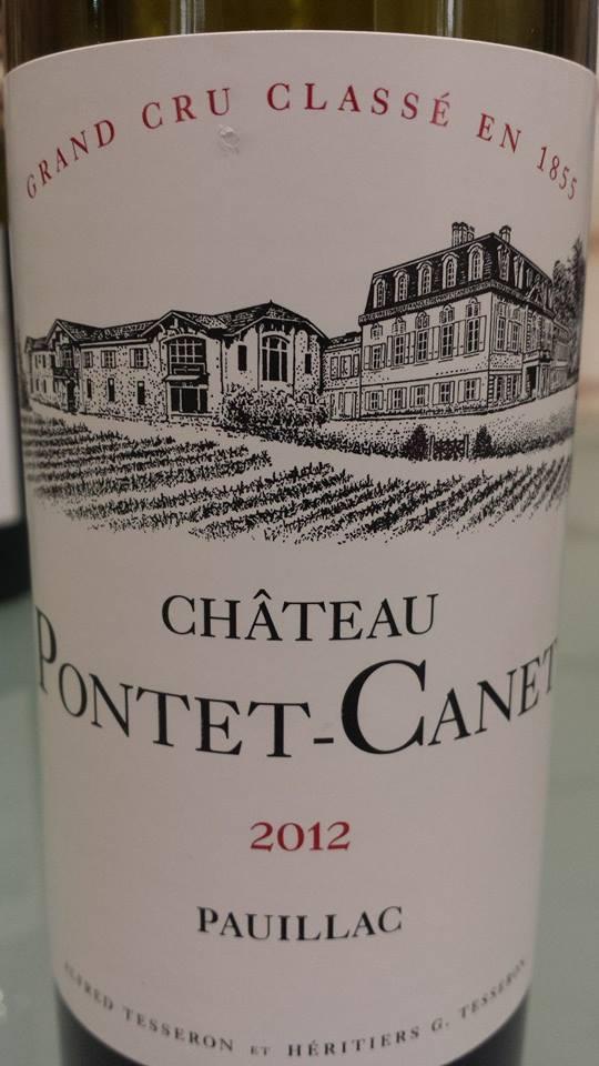 Château Pontet-Canet 2012 – Pauillac – 5ème Grand Cru Classé