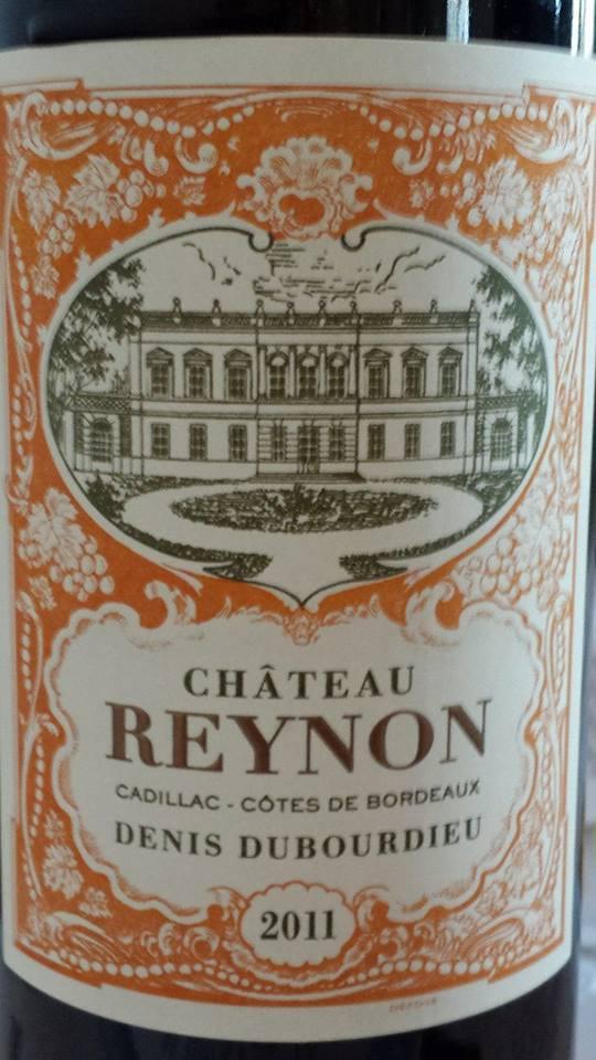 Château Reynon 2011 – Cadillac Côtes de Bordeaux