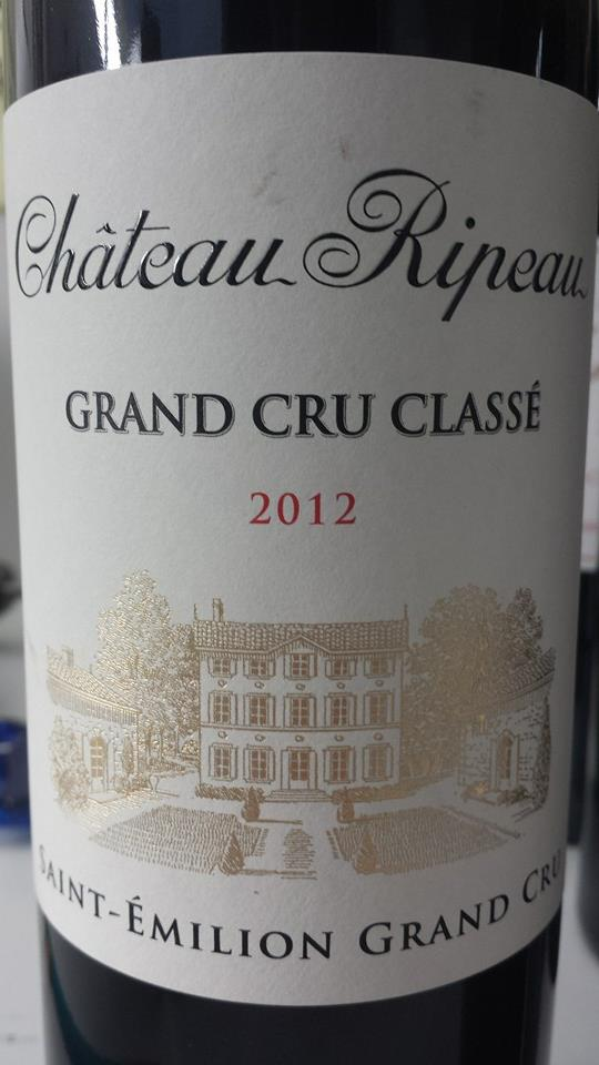 Château Ripeau 2012 – Saint-Emilion Grand Cru – Grand Cru Classé