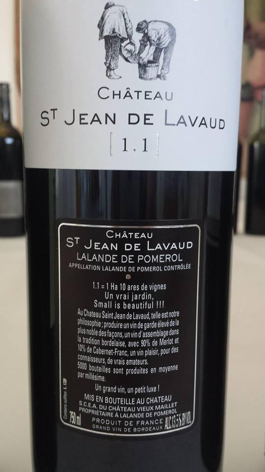 Château St Jean de Lavaud 2012 – Lalande de Pomerol