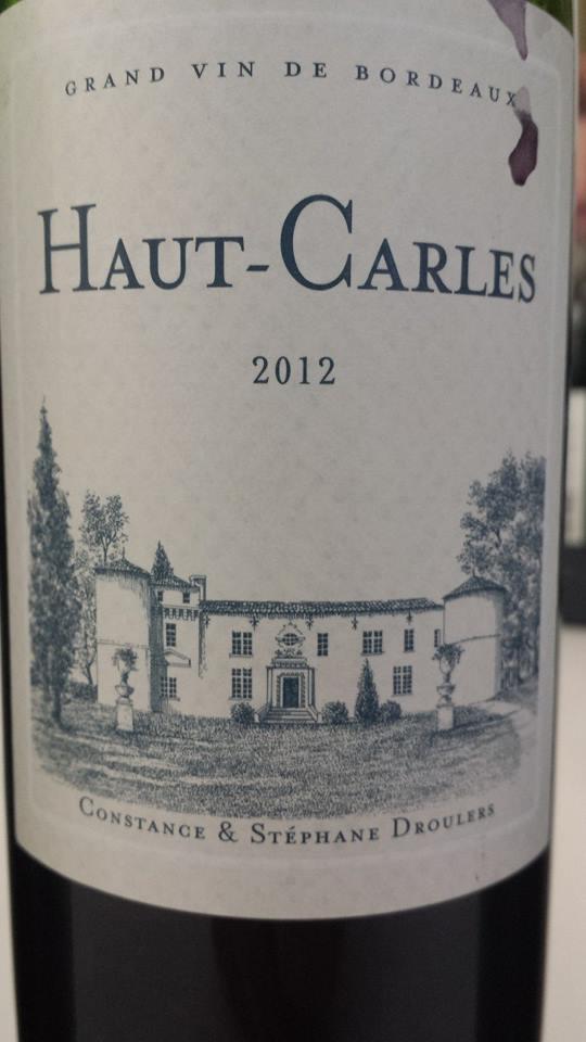 Château de Carles – Cuvée Haut-Carles 2012 – Fronsac