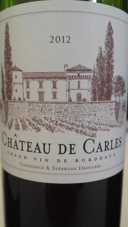Château de Carles 2012 – Fronsac
