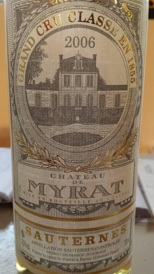 Château de Myrat 2006 – 2ème Grand Cru Classé de Sauternes
