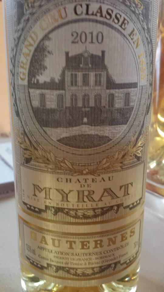 Château de Myrat 2010 – 2ème Grand Cru Classé de Sauternes