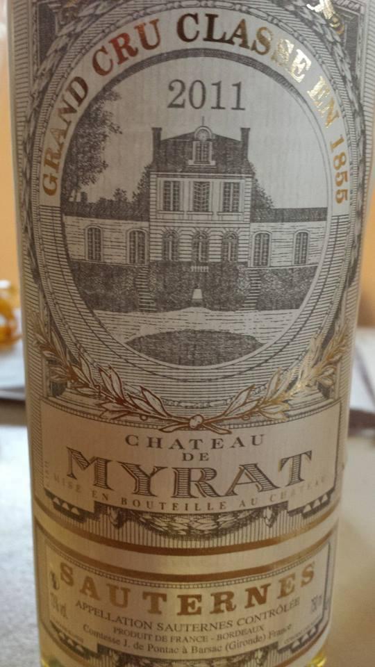 Château de Myrat 2011 – 2nd Grand Cru Classé de Sauternes