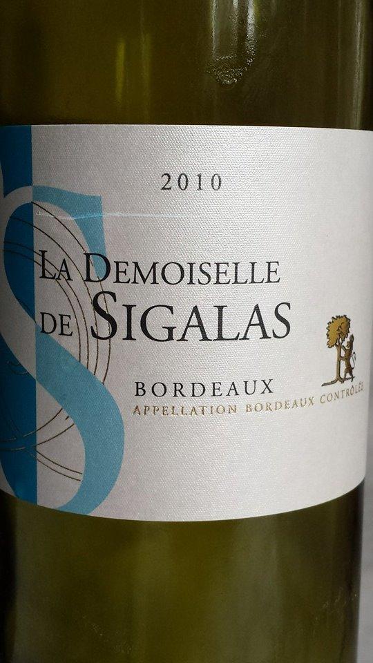 La Demoiselle de Sigalas 2010 – Bordeaux