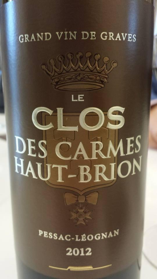 Le Clos des Carmes Haut-Brion 2012 – Pessac-Léognan