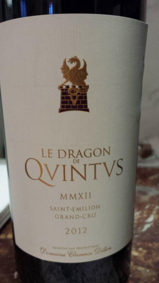 Le Dragon de Quintus 2012 – Saint-Emilion Grand Cru