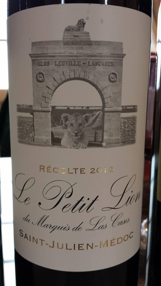 Le Petit Lion du Marquis de Las Cases 2012 – Saint-Julien