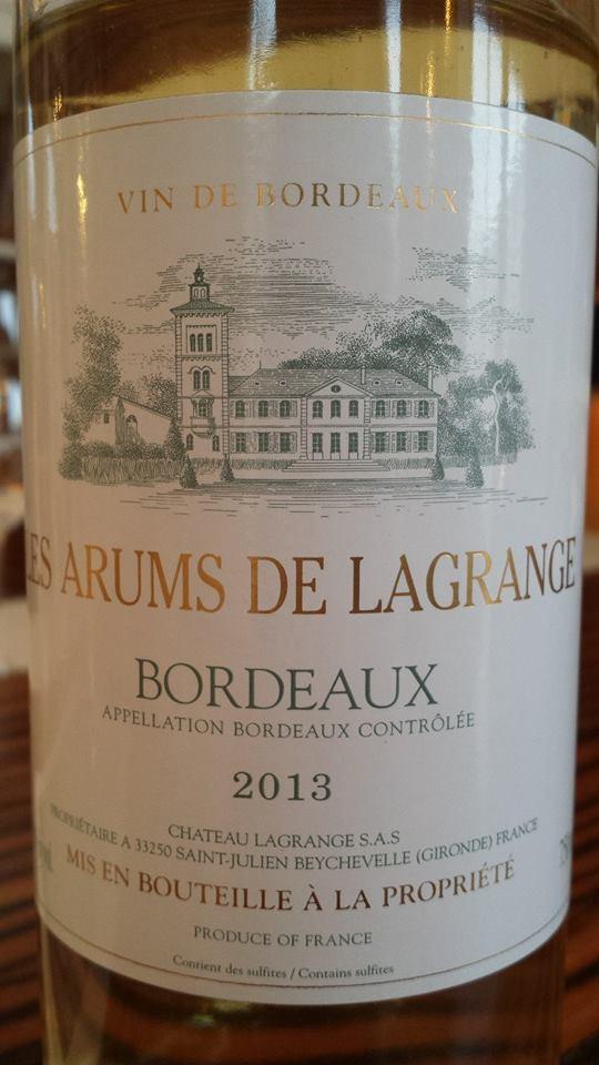Les Arums de Lagrange 2013 – Bordeaux