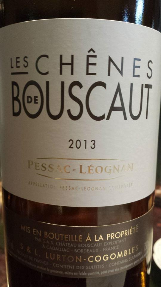 Les Chênes de Bouscaut 2013 – Pessac-Léognan