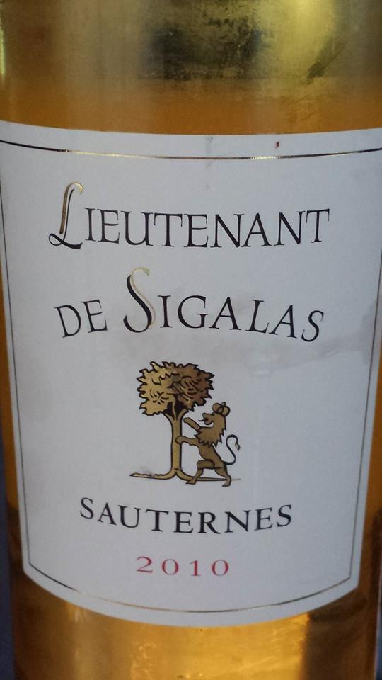 Lieutenant de Sigalas 2010 – Sauternes