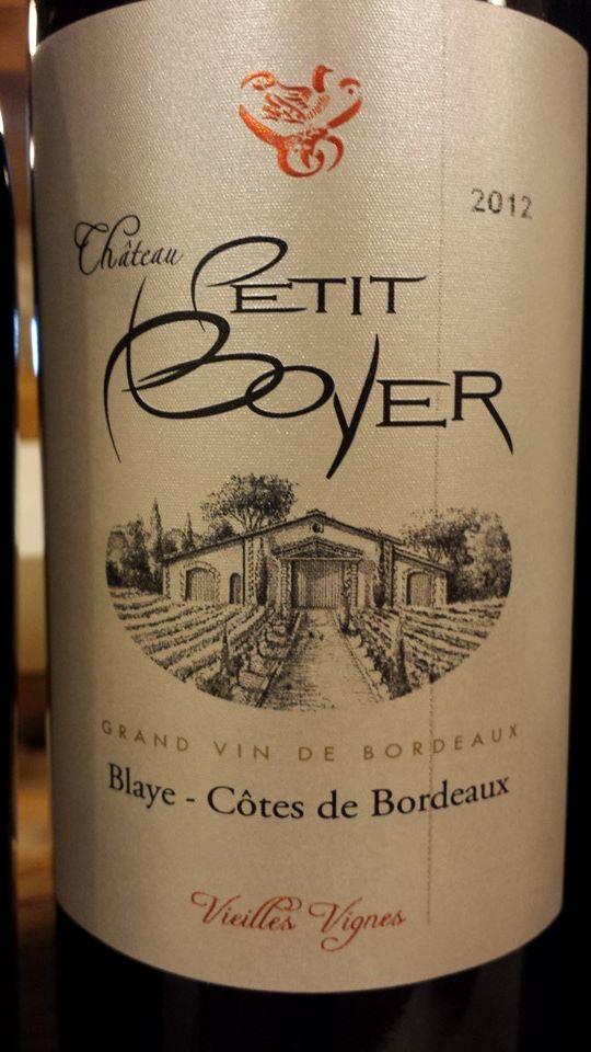 Château Petit Boyer 2012 – Vieilles Vignes – Blaye Côtes-de-Bordeaux