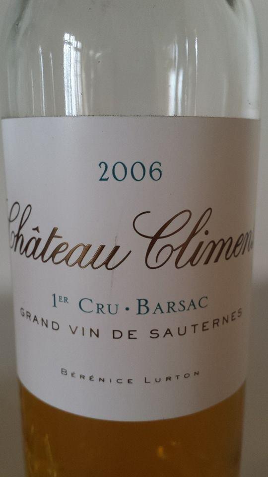 Château Climens 2006 – Barsac – 1er Grand Cru Classé