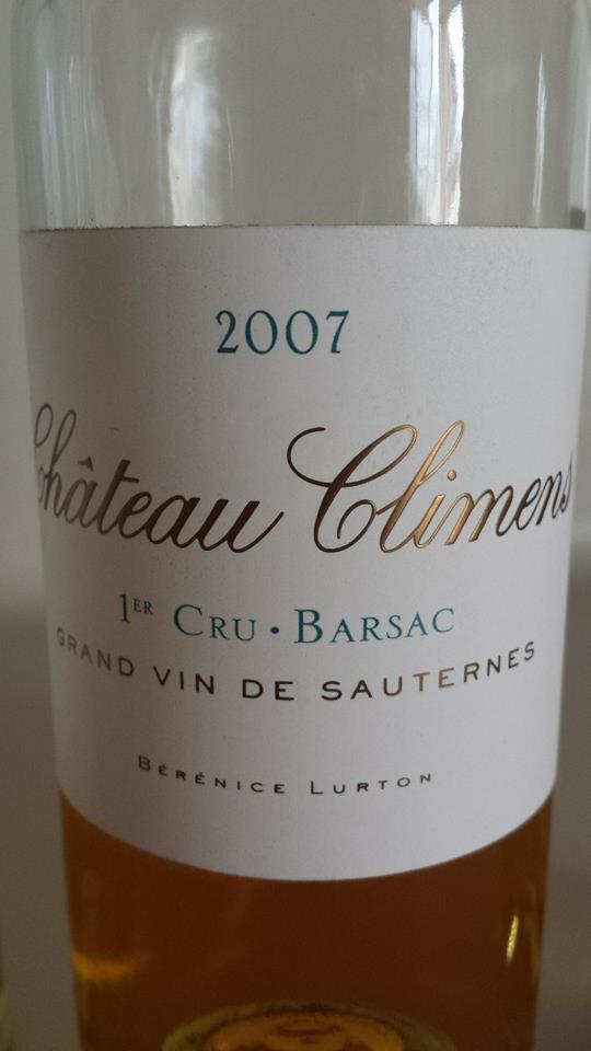 Château Climens 2007 – Barsac – 1er Grand Cru Classé