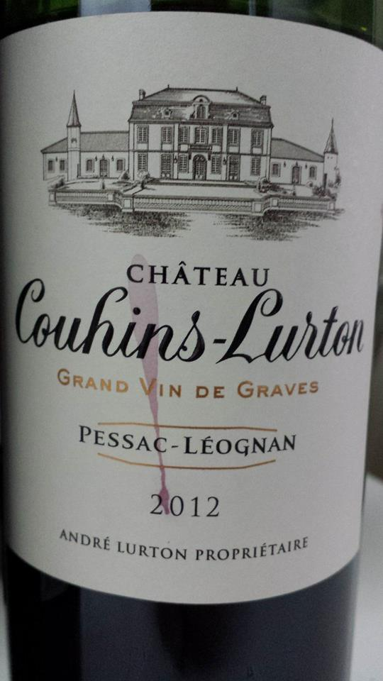 Château Couhins-Lurton 2012 – Pessac-Léognan