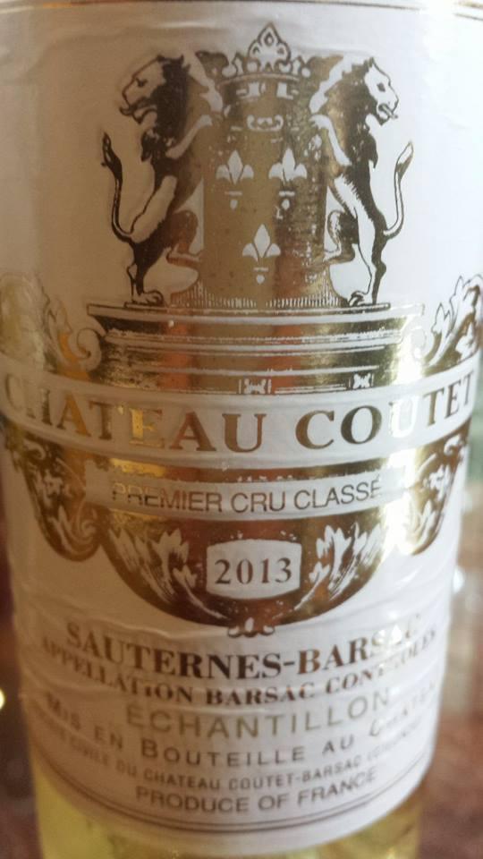 Château Coutet 2013 – Grand Cru Classé à Barsac-Sauternes