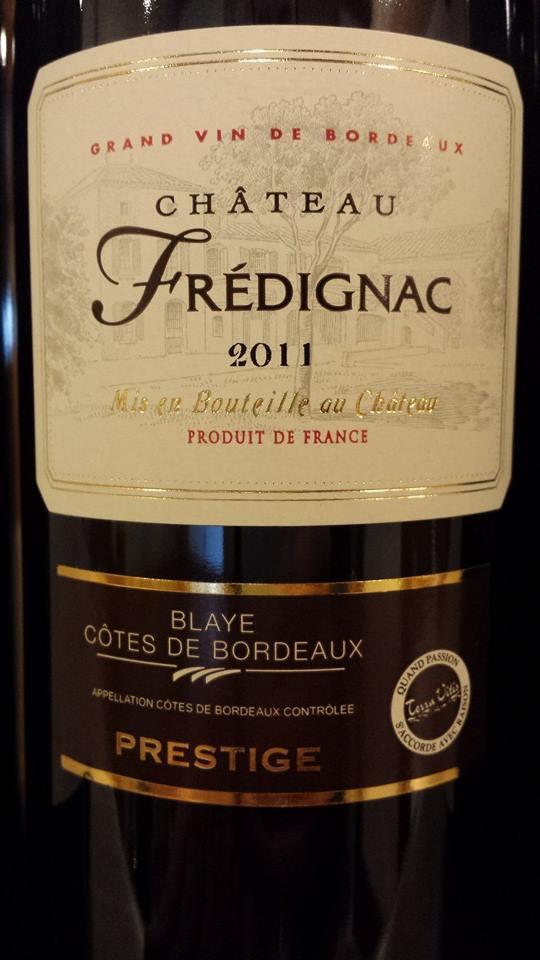 Château Frédignac – Cuvée Prestige 2011 – Blaye Côtes-de-Bordeaux