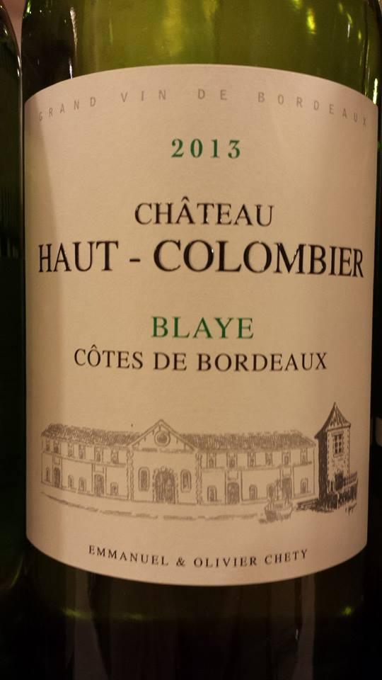 Château Haut Colombier 2013 – Blaye Côtes-de-Bordeaux