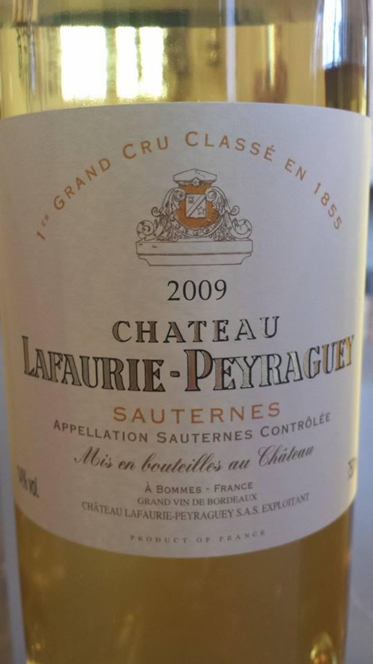 Château Lafaurie-Peyraguey 2009 – 1er Grand Cru Classé de Sauternes