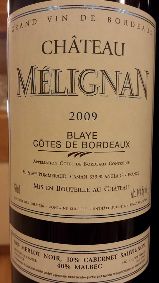 Château Mélignan 2009 – Blaye Côtes-de-Bordeaux