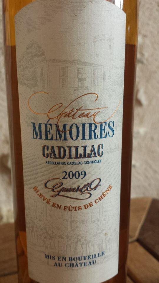 Château Mémoires – Grain d'Or 2009 – Cadillac