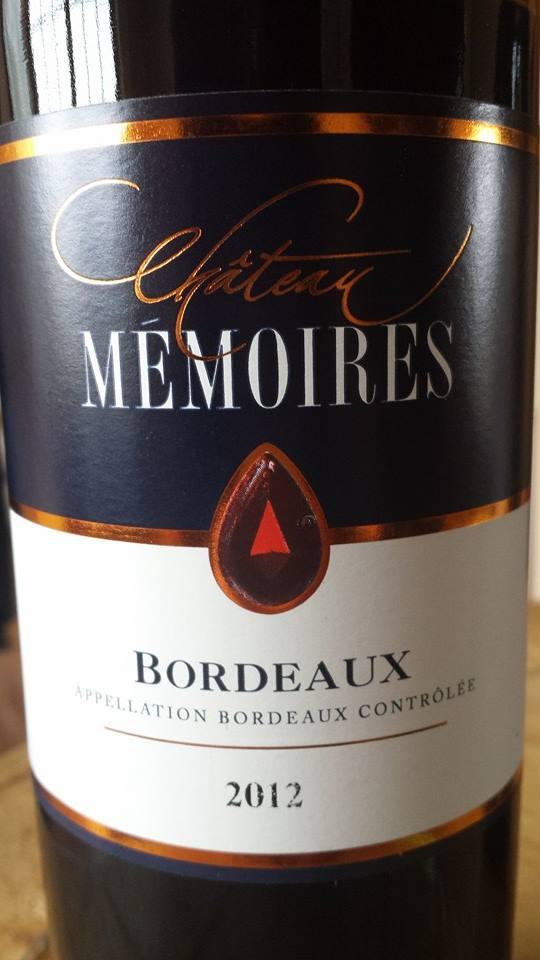Château Mémoires 2012 – Bordeaux