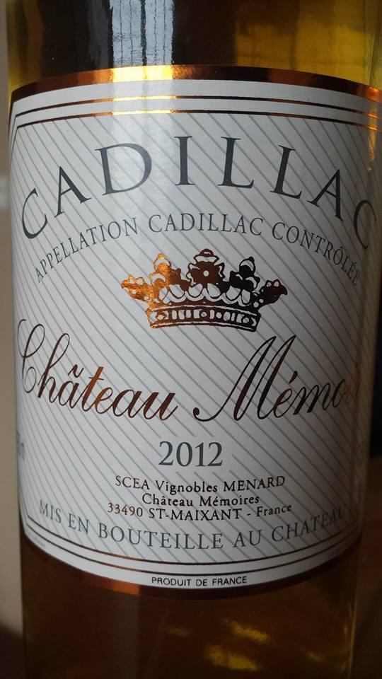 Château Mémoires 2012 – Cadillac