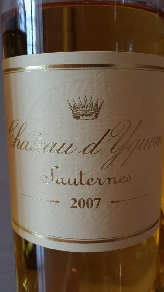 Château d'Yquem 2007 – Sauternes – 1er Grand Cru Classé Supérieur