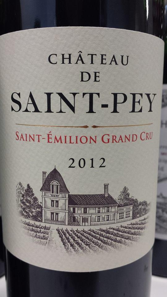 Château de Saint-Pey 2012 – Saint-Emilion Grand Cru