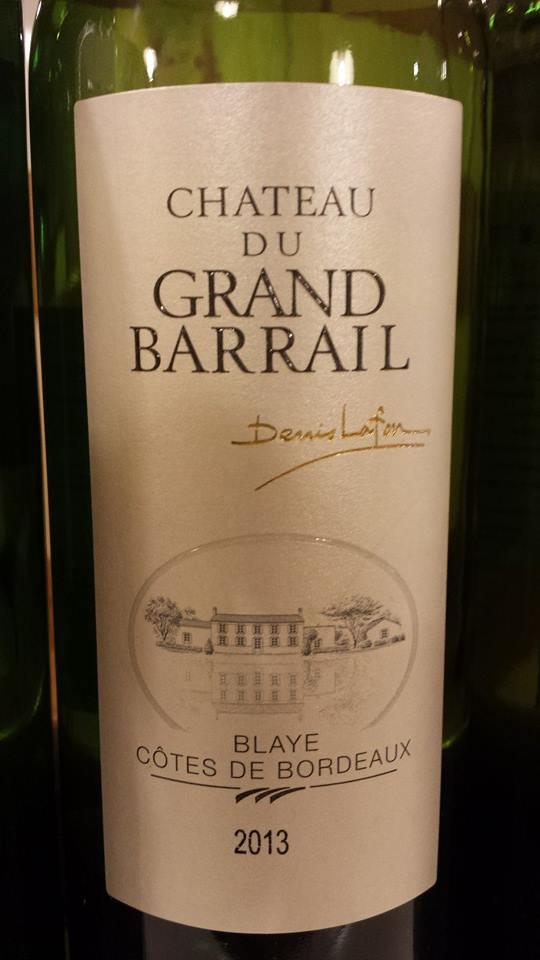 Château du Grand Barrail 2013 – Blaye Côtes-de-Bordeaux