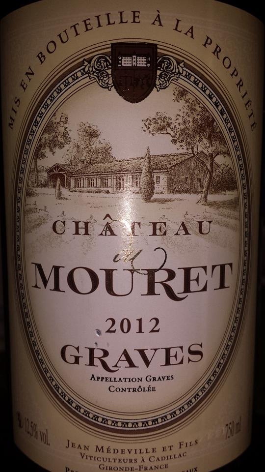 Château du Mouret 2012 – Graves