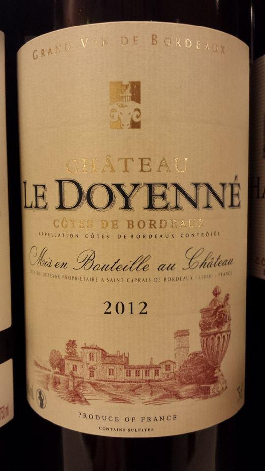 Château Le Doyenné 2012 – Côtes-de-Bordeaux
