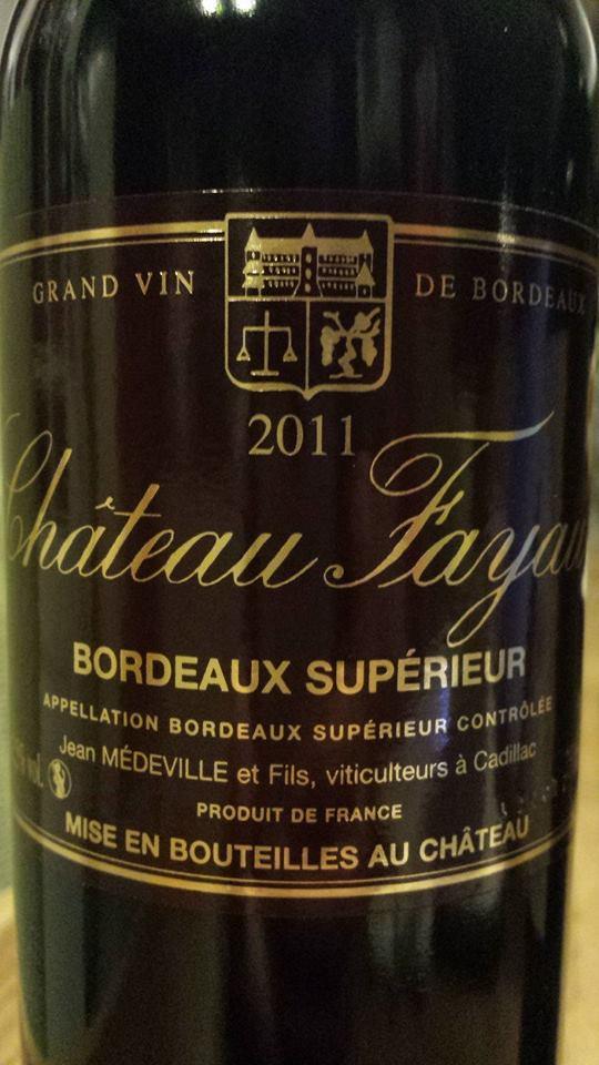 Chateau Fayau 2011 – Bordeaux Supérieur