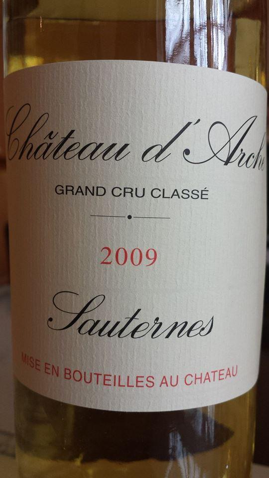 Château d'Arche 2009 – Sauternes – 2nd Grand Cru Classé