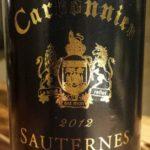 Domaine de Carbonnieu 2012 – Sauternes