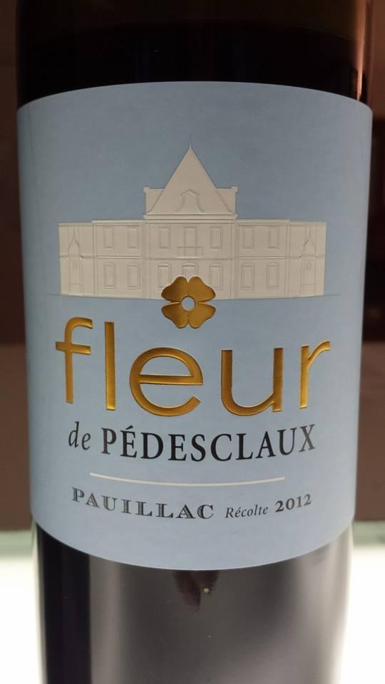 Fleur De Pedesclaux 2012 Pauillac Vertdevin